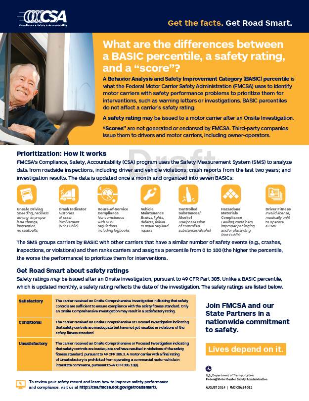 BASIC Percentiles and Safety Ratings Factsheet