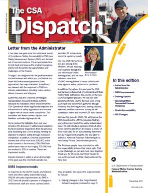 CSA Dispatch, December 2011
