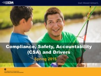 Get Road Smart: Drivers and the Compliance, Safety, Accountability (CSA) Program