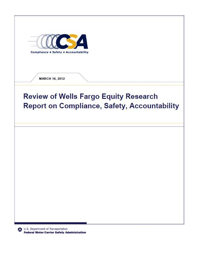 Review of Wells Fargo Equity Research Report on Compliance, Safety, Accountability