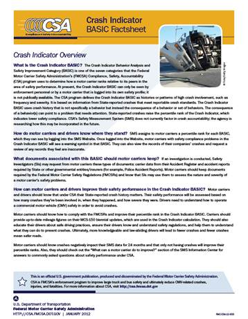 Crash Indicator BASIC Factsheet