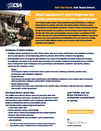 Safety Performance and Compliance Factsheet