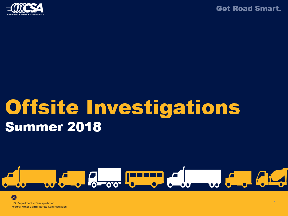 Intro to Offsite Investigations for Carriers