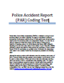 Police Accident Report (PAR) Coding Test